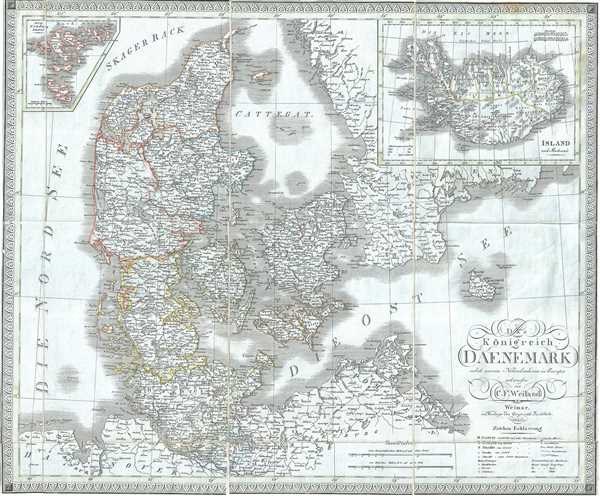 Das Konigreich Daenemark nebst seinen Nebenlaendern in Europa.