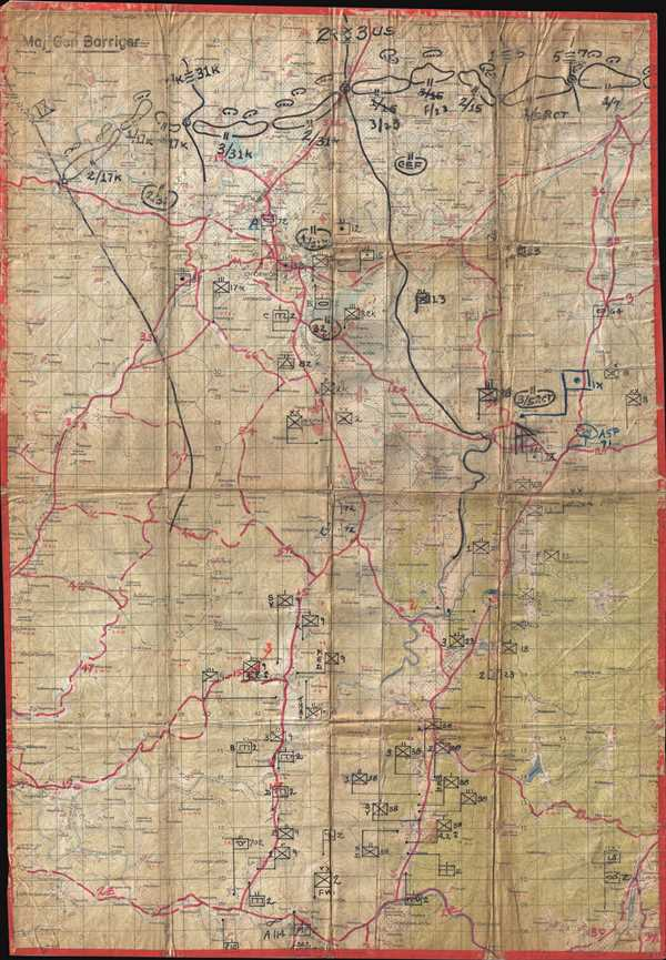 [Barriger Map of Ch'orwon, Korea]