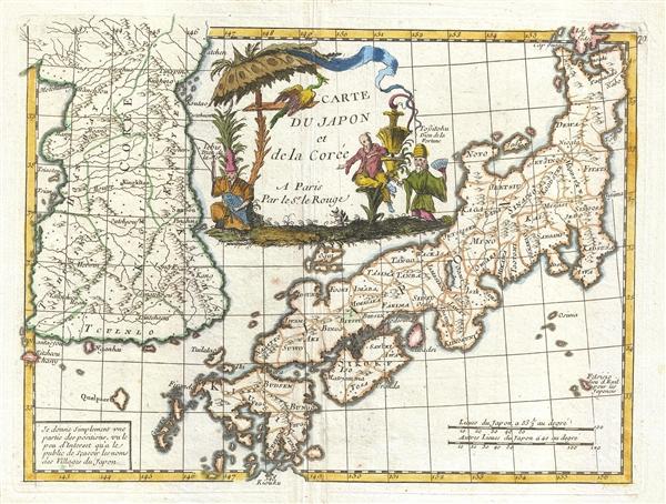 Carte du Japon et de la Corée.