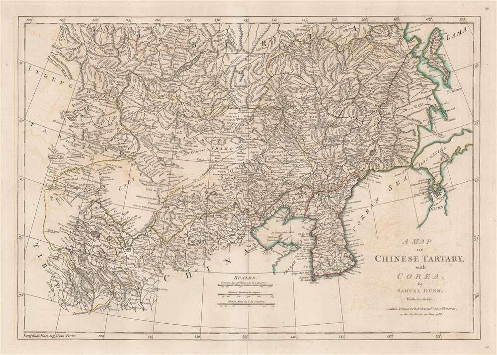 A Map of Chinese Tartary, with Corea. - Main View