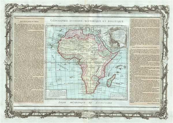 L'Afrique Dressee pour l'etude de la Geographie.