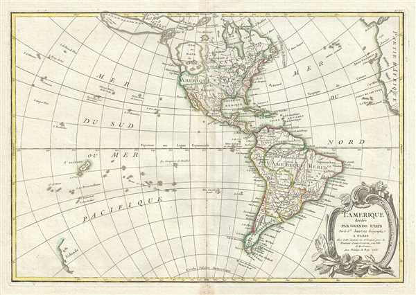 l'Amerique divisee Par Grans Etats. - Main View