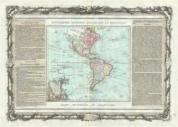 L'Amerique dressee pour l'etude de la Geographie.