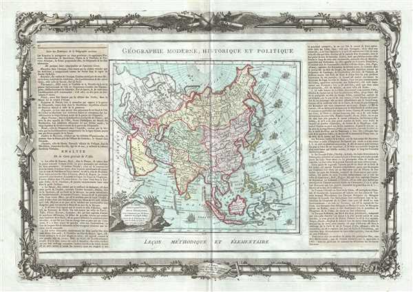 L'Asie, dressee pour l'etude de la Geographie.