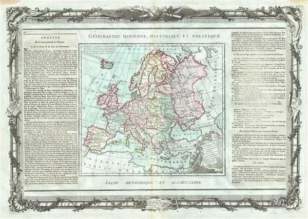 L'Europe Dressee pour l'Etude de la Geographie. - Main View