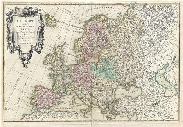 L'Europe divisée en ses Principaux Etats.