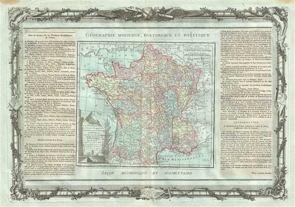 La France, Divisee en ses quarante Gouvernemens Generaux et Militaires, dans leur etendue actuelle et par Provines Ecclesiastiques.