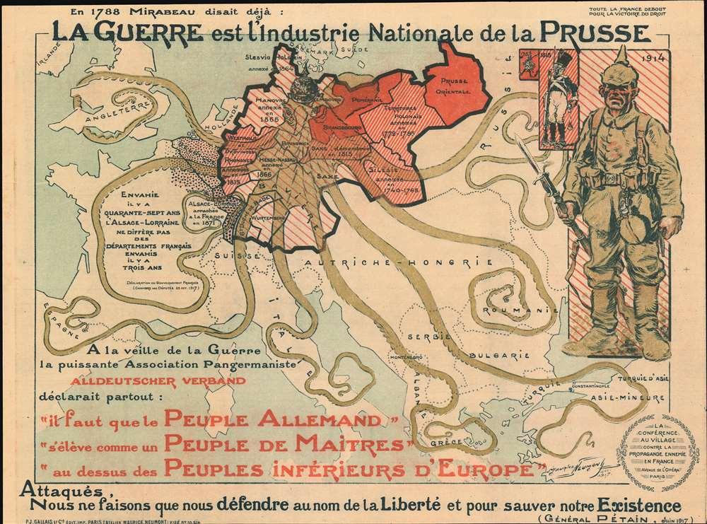 La Guerre est l'industrie Nationale de la Prusse. [War is the Prussian National Industry.] - Main View