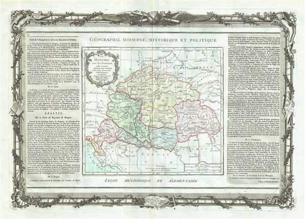 La Hongrie avec les Provinces adjacentes. - Main View