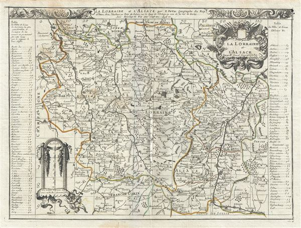 La Lorraine et l'Alsace.