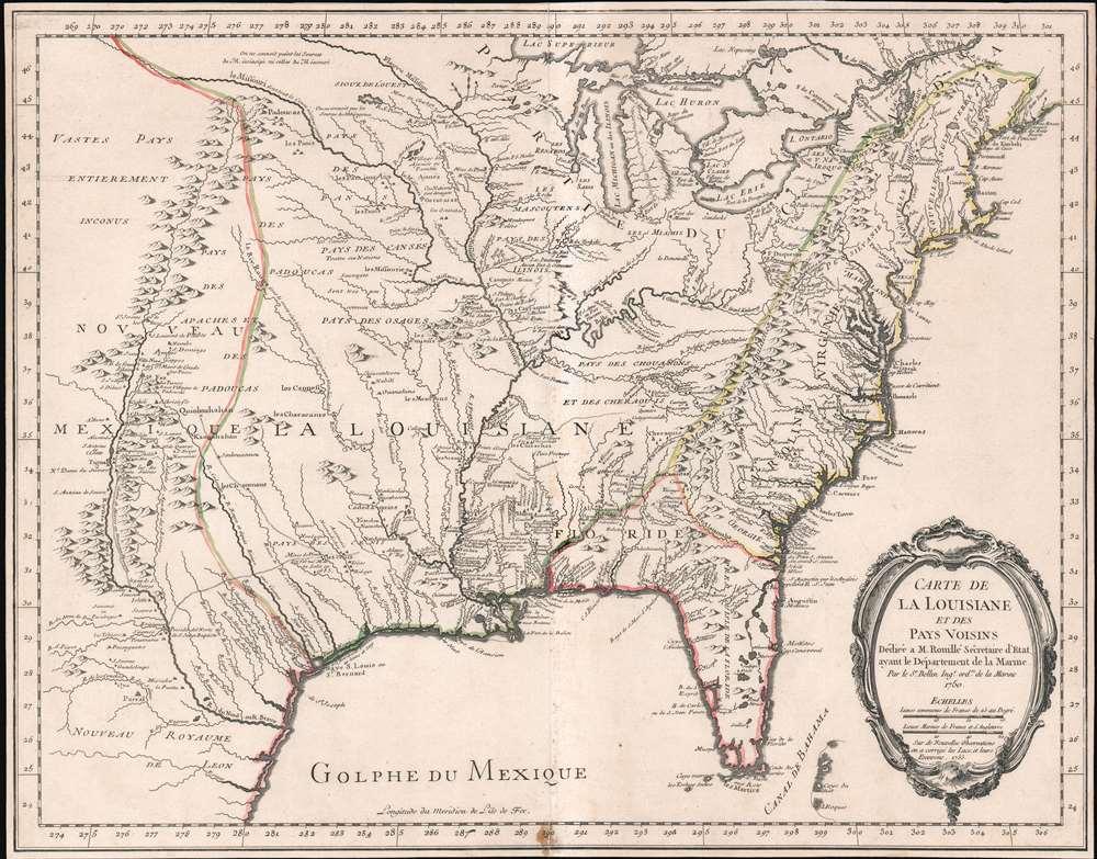 Carte de La Louisiane et des Pays Voisins. - Main View