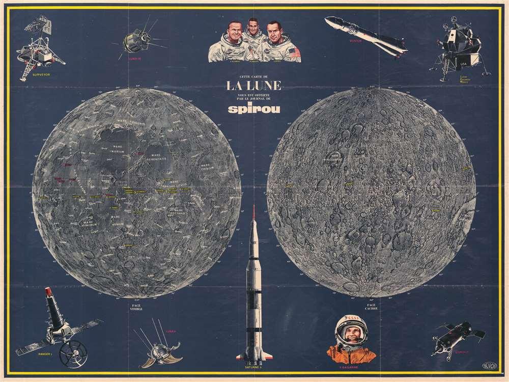 Cette Carte de La Lune Vous est Offerte par le Journal de Spirou.