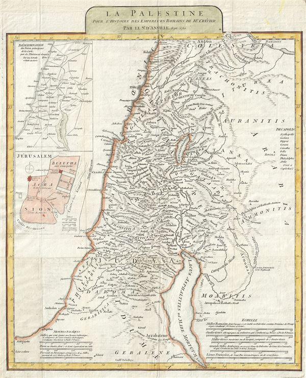 La Palestine pour l'Histoire des Empereurs Romains.