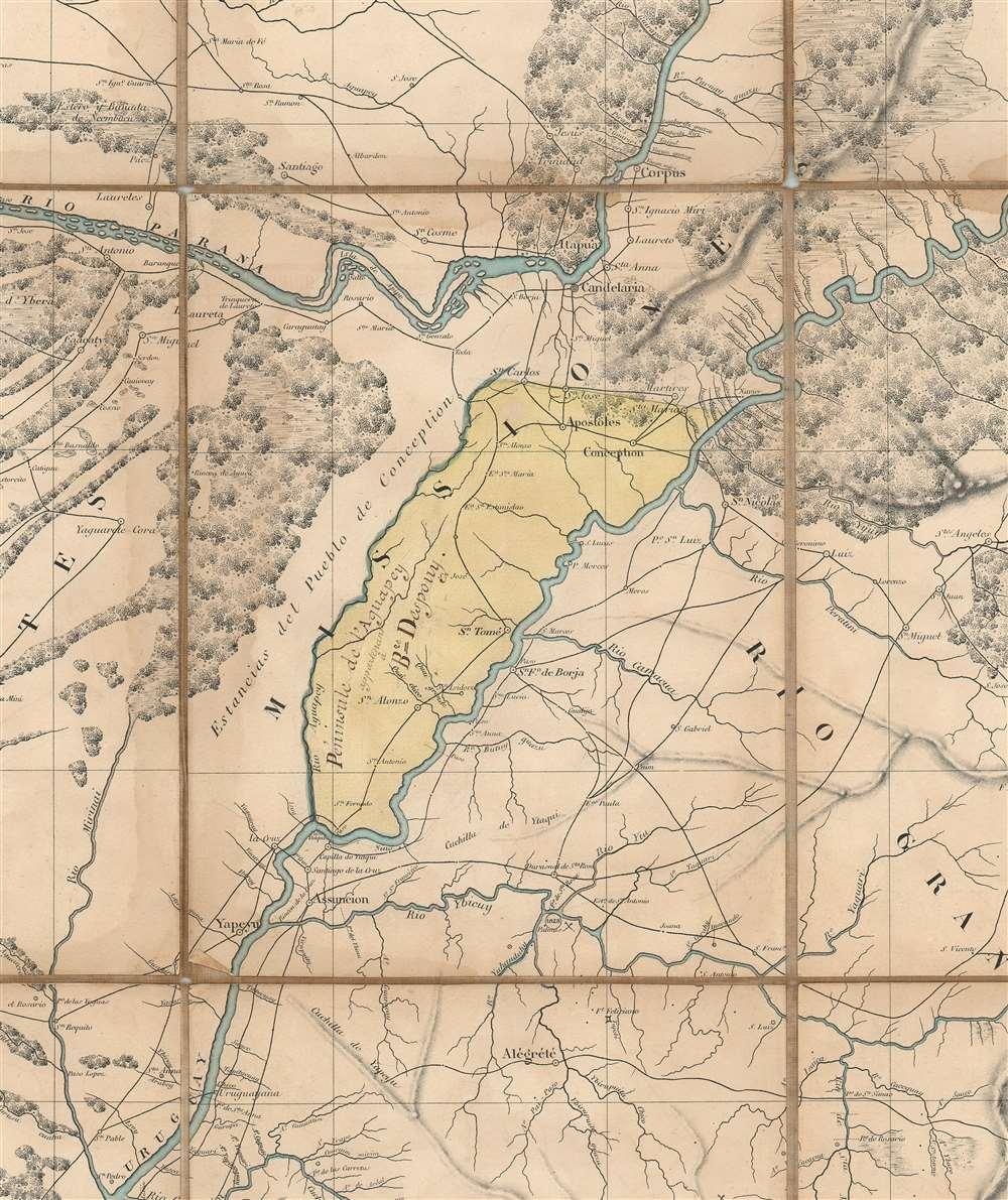 Carte Générale du Bassin de La Plata Dressée d'après des documents recueillis sur les lieux, et les milleurs plans partiels de cette contrée par m. Coffinières, Lt. Cnel. du Génie. - Alternate View 1