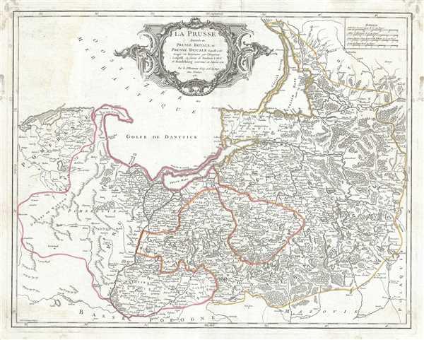 La Prusse divisee en Prusse Royale, et Prusse Ducale laquelle a ete erigee en Royaume par l'Empereur Leopold en favour de Frederic I. Elec? de Brandebourg couronee en Janvier 1701.