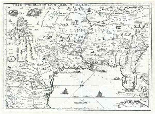 Partie Meridionale De La Riviere De Missisipi, et ses Environs dan L'Amerique Septentrionale.
