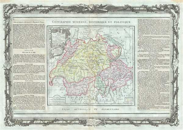La Suisse divisee en ses Cantons, ses Allies et Sujets.
