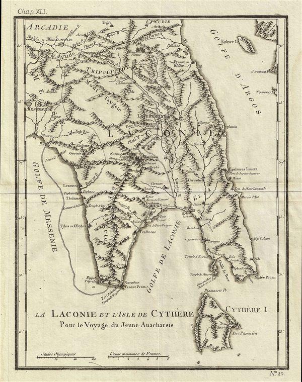 La Laconie et l'Isle de Cythere Pour le Voyage du Jeune Anacharchis.