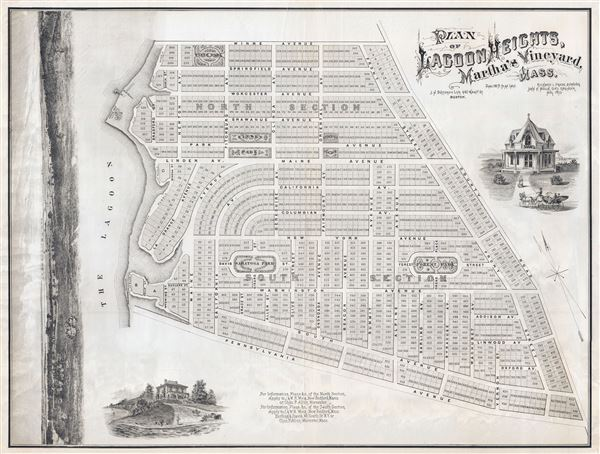 PLAN OF LAGOON HEIGHTS, Martha's Vineyard, MASS. - Main View