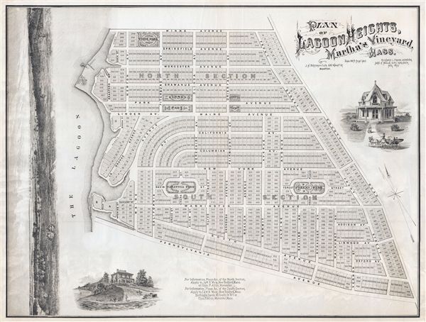 PLAN OF LAGOON HEIGHTS, Martha's Vineyard, MASS. - Main View