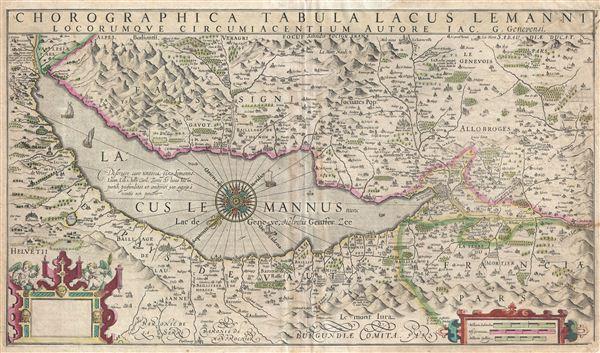 Chorographica Tabula Lacus Lemanni Locorumque Circumiacentium Auctore Iac. G. Genevensi