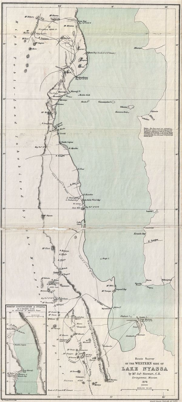 Route Survey of the Western Side of Lake Nyassa. - Main View