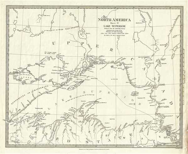 North America Sheet IV Lake Superior. - Main View