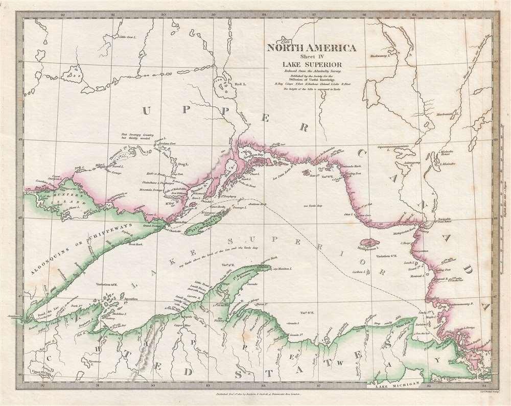 North America Sheet IV Lake Superior. - Main View