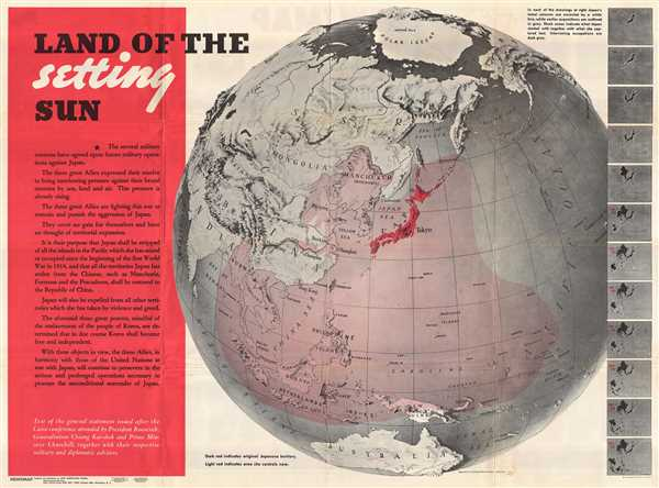 Land of the Setting Sun; Newsmap, Monday December 27, 1943.