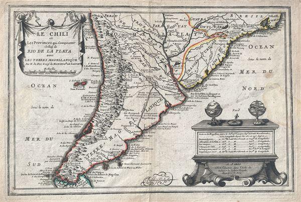 Le Chili et Les Provinces qui Composent Celles de Rio de la Plata avec les Terres Magellanique.