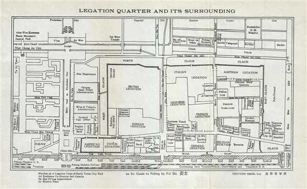 Legation Quarter and Its Surrounding.
