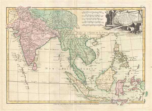 Les Indes Orientales et leur archipel. Assujettie aux observations astronomiq(u)es combinees avec les itineraires anciens et modernes, et avec les routes des navigateurs. - Main View