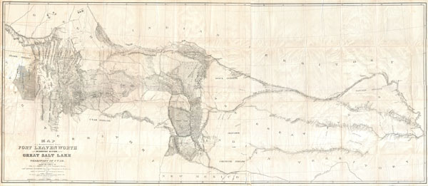 Map of a Reconnoissance between Fort Levenworth and the Missouri River, and the Great Salt Lake in the Territory of Utah, made in 1849 and 1850 … - Main View
