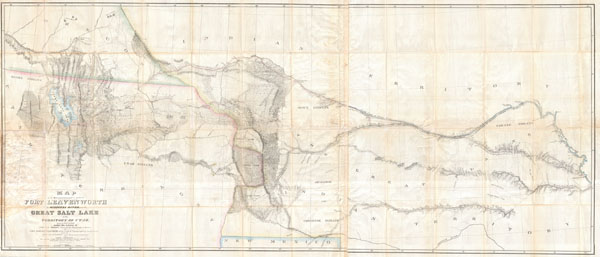 Map of a Reconnoissance between Fort Levenworth and the Missouri River, and the Great Salt Lake in the Territory of Utah, made in 1849 and 1850 �