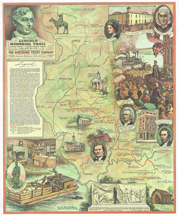Lincoln Memorial Trail. Lincoln Circuit *** Lincoln Douglas Debates ** Black Hawk War Trail **