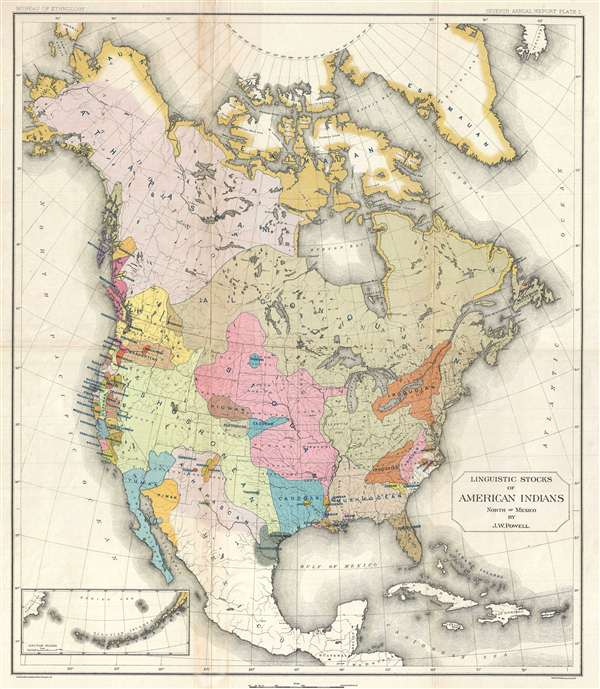 Linguistic Stocks of American Indians North of Mexico by J. W. Powell.