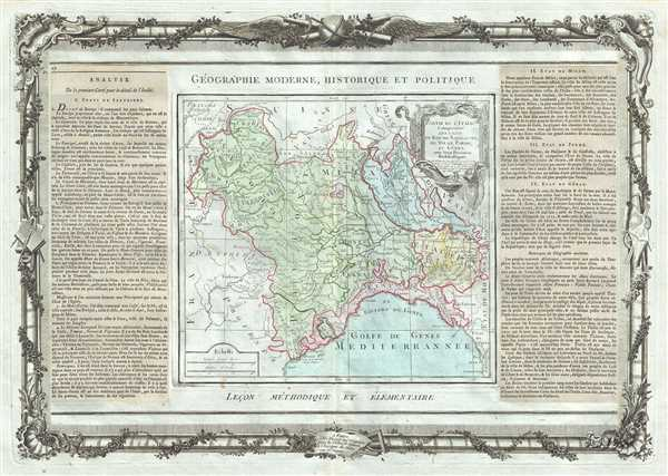 Partie De L'Italie, Comprenant Les Etats Du Roy De Sardaigne, De Milan, Parme, Et Genes.