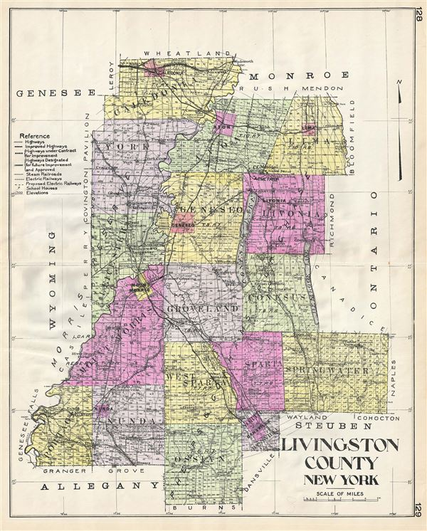 Livingston County New York Geographicus Rare Antique Maps