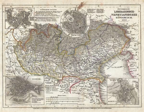 Osterreich: Lombardisch-Venetianisches Konigreich.