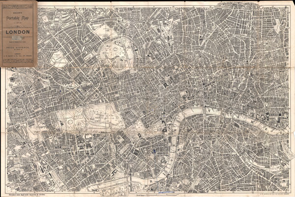 Bacon's Portable Map of London. - Main View