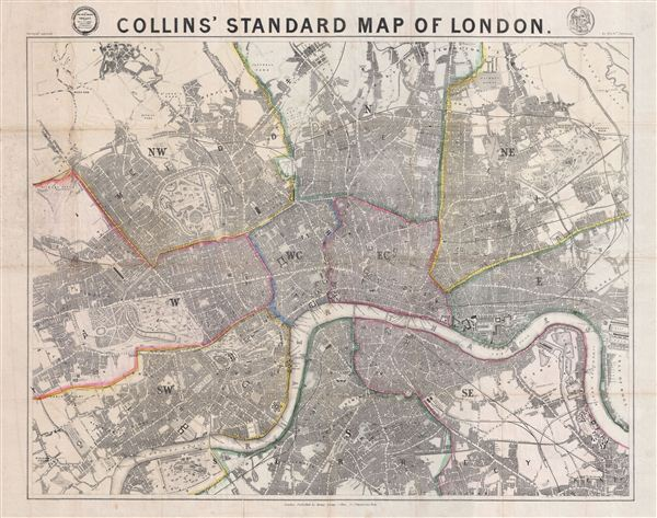 Collins' Standard Map of London. - Main View