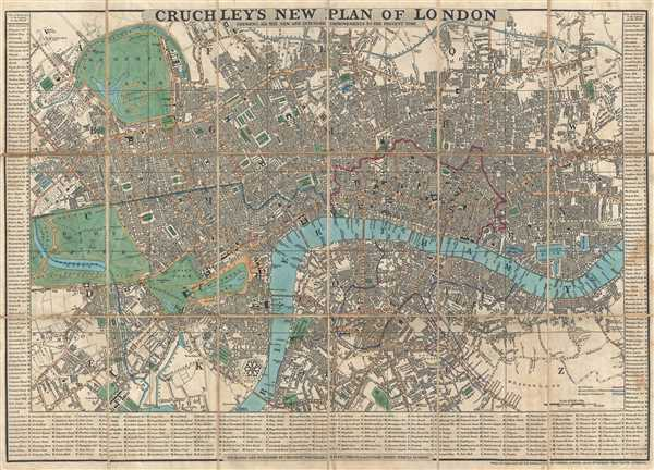 Cruchley's New Plan of London. Shewing All the New and Intended Improvements to the Present Time.