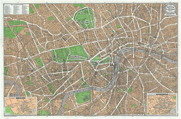 Geographia Pictorial Map of London. - Main View