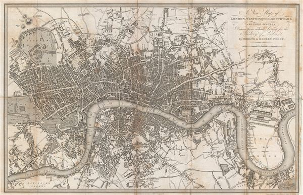A New Map of London, Westminster, Southwark, and their suburbs.