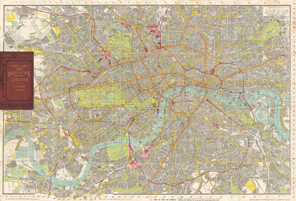 Tape Indicator Map of London. - Main View