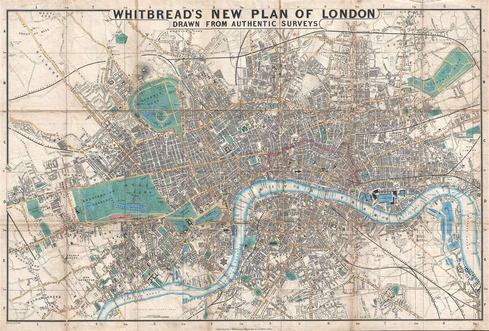 Whitbread's New Plan of London.