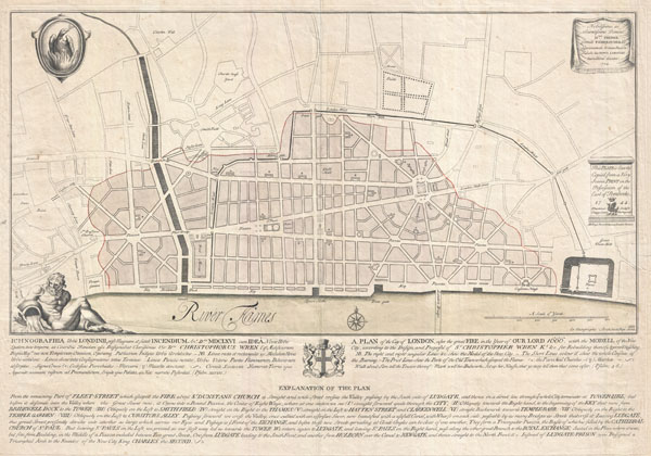 Ichnographia urbis Londinii… (A Plan of the City of London, after the great FIRE, in the Year of Our Lord 1666.)