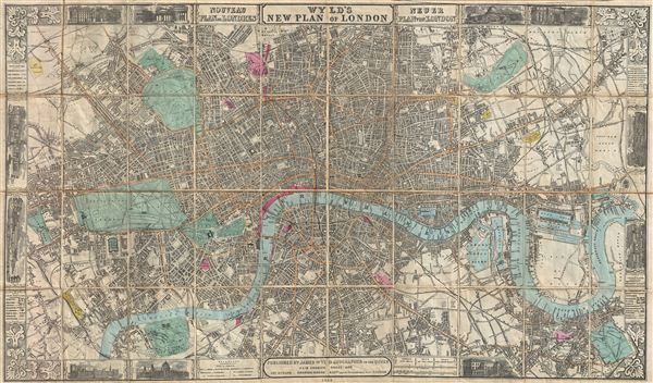 Wyld's New Plan of London. - Main View