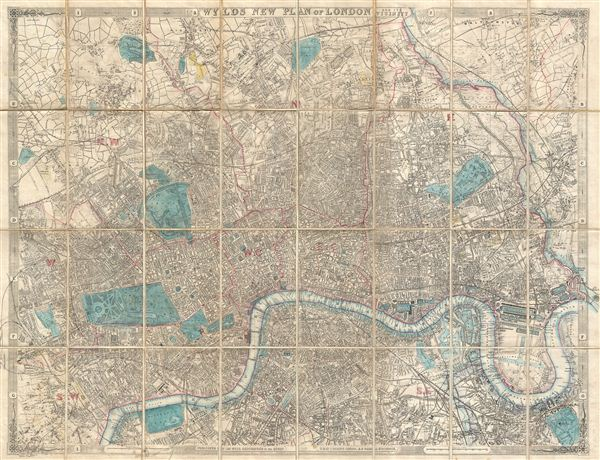 Wyld's New Plan of London and its Vicinity.