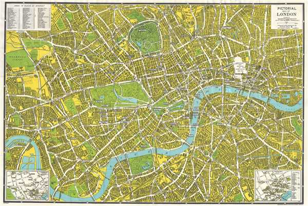 Pictorial Map of London.